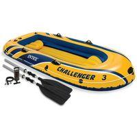 Intex Challenger 3 osobowy dmuchany ponton z wiosłami i pompką 68370NP