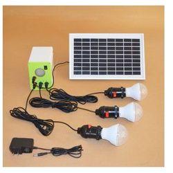 Etrampoliny.pl Użytkowa lampa solarna z 3 żarówkami i wyjściem usb