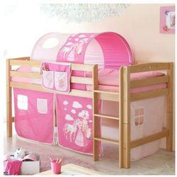 Ticaa łóżko piętrowe timmy r buk, naturalny - konik rose/pink marki Ticaa kindermöbel