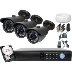 Zestaw do monitoringu 3x kamera 900tvl z ir do 20m dysk 500gb od producenta Ivel