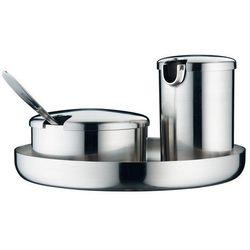 WMF - Zestaw: cukiernica, mlecznik i taca ilość elementów: 3