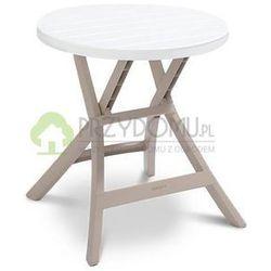 Stół ogrodowy tarasowy OREGON biały/cappuccino