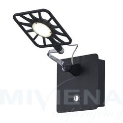 Kinkiet LED 1 chrom czarny 14 cm