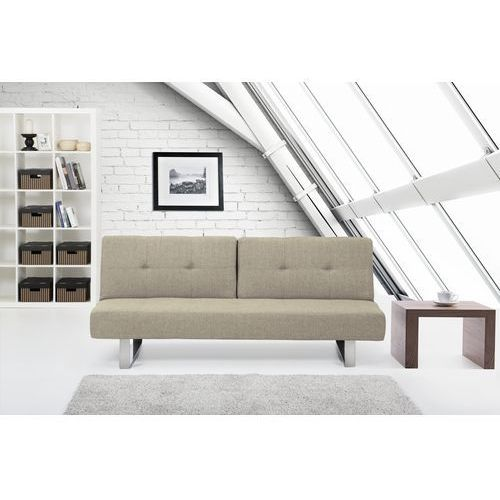 Rozkladana sofa ruchome oparcie - DUBLIN bezowoszary ze sklepu Beliani