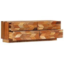 vidaXL Szafka pod TV, 120x30x40 cm, lite drewno odzyskane