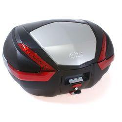 Kufer Givi V47N (czarny, 47 litrów, czerwone odblaski, pokrywa aluminiowa) - produkt z kategorii- kufry i bagażniki motocyklowe