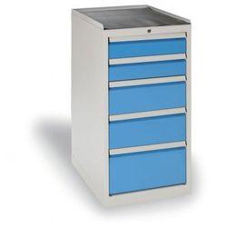 B2b partner Szafa warsztatowa z szufladami, 5 szuflad