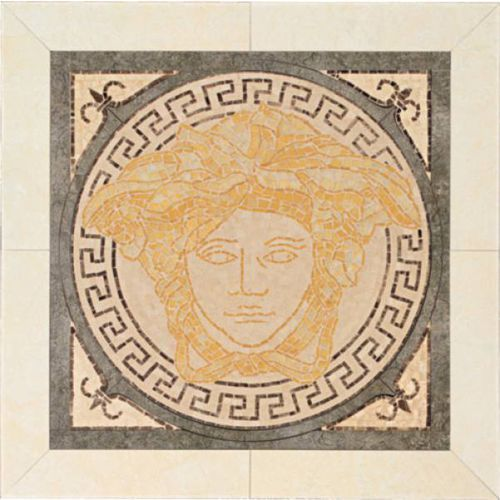 PALACE LIVING Rosoni Medusa in ceramica Oro/Nero 41x41 (P81) - produkt dostępny w 7i9.pl Wszystko  Dla Domu