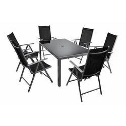 Komplet mebli ogrodowych aluminium stół + krzesła