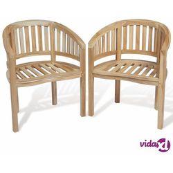 krzesło banana tekowe 2 szt. marki Vidaxl