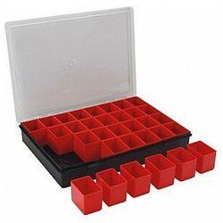 Tayg - organizer na końcówki, elektronikę, śrubki itp. - 330 x 247 x 54 mm - 32 wyjmowane pojemniki (8412796034008)