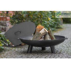 Palenisko ogrodowe ze stali czarnej bez pokrywy średnica 70 cm marki Korono