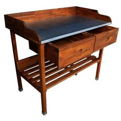ALDOSRO Drewniany stół pomocny do grillowania Alan, 100 x 55 90 cm, 687486