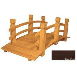 Mostek drewniany ogrodowy - 149 cm - Stary Orzech