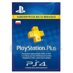 Sony Subskrypcja PlayStation Plus 12 m-ce [kod aktywacyjny] - produkt z kategorii- Kody i karty pre-paid