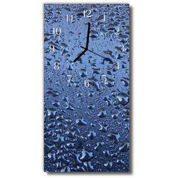 Zegar Szklany Pionowy Kuchnia Krople szkło niebieski, kolor niebieski