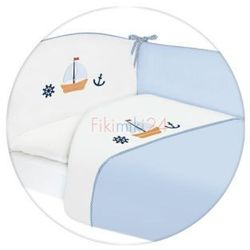 Ceba pościel bawełniana c-3 haft marynarski niebieski marki Ceba baby
