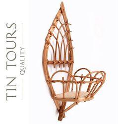 Tin tours sp.z o.o. Wiklinowy kwietnik na ścianę 21x15x45 cm