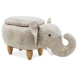 Signal Pufa zwierzak - - słoń sebastian z pojemnikiem - szary