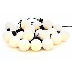 Oświetlenie - łańcuch 20 białych LED ciepło-biała