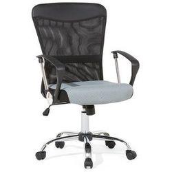 Beliani Krzesło biurowe szaro-czarne - meble biurowe - fotel komputerowy - boss