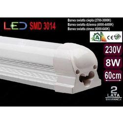 ŚWIETLÓWKA LED MILK w oprawie T8 8W 60cm dzienna z kategorii świetlówki