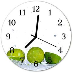 Zegar ścienny okrągły Limonka