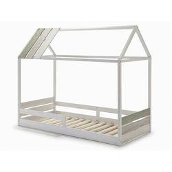 Łóżko domek INDIANA - 90x190 cm - MDF i sosna - Kolor biały