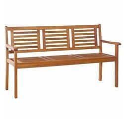 Drewniana ławka ogrodowa infis 2x - brązowa marki Producent: elior