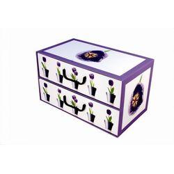 Pudełko kartonowe 2 szuflady poziome DONICZKI-TULIPANY