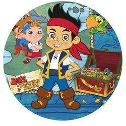 Dekoracyjny opłatek tortowy jake i piraci z nibylandii - 20 cm - 5 marki Modew