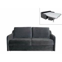 Sofa dla 3 osób, rozkładana w trybie ekspresowym, z weluru cotio - antracytowa marki Vente-unique