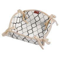 koszyk na pieczywo, szaro-czarne fale na białym tle, 20x20 cm, geometric marki Dekoria