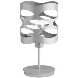Sigma Stojąca lampa ażurowa moduł rol 50076 nocna lampka biurkowa z wycięciami szara