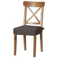 siedzisko na krzesło ingolf, szaro-brązowy szenil, krzesło inglof, vintage marki Dekoria