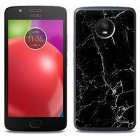 Fantastic Case - Motorola Moto E4 - etui na telefon Fantastic Case - czarny marmur, ETMT550FNTCFC032000
