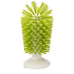 Joseph joseph - szczotka z przyssawką do mycia kieliszków brush-up - zielona - zielony