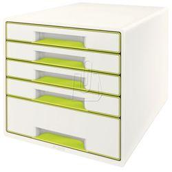 Pojemnik wow dwukolorowy z 5 szufladami ziel.-biały 52141064 marki Leitz
