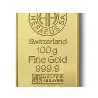 100g x 10szt. Sztabka złota mennica Argor-Heraeus Szwajcaria - Dostawa Natychmiastowa