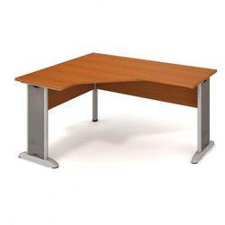 Biurko ergonomiczne SELECT, prawe, wzór czereśnia