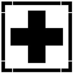 Szabloneria Szablon do malowania znak pierwsza pomoc medyczna ae003 - 85x85 cm