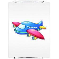 Lampa dla dziecka Samolot - kinkiet Jet biały/ chrom 60W E27 (5902166902714)