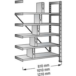 Unbekannt Regał wtykowy na segregatory i archiwum, ocynkowany, wys. 1920 mm, jednostronne,