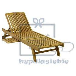 Leżak ogrodowy divero z drewna tekowego
