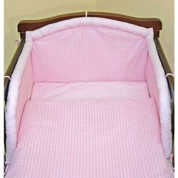 MAMO-TATO pościel 2-el Krateczka różowa do łóżeczka 70x140cm