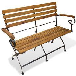 składana ławka ogrodowa, drewno akacjowe, 112 x 46 85 cm marki Vidaxl