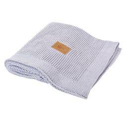 Tkany kocyk  z bawełny organicznej - jasnoszary marki Poofi