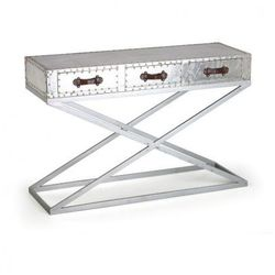 Stolik z szufladami Metal, wysoki, 122 x 40 x 80 cm
