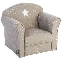 Klasyczny fotel dla dzieci - bawełna, kolor taupe marki Atmosphera créateur d'intérieur