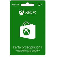Karta przedpłacona  xbox live wartość 50zł. marki Microsoft